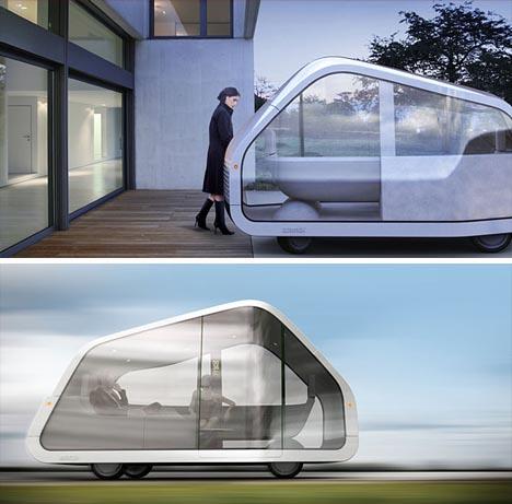 modern futuristic mobile house