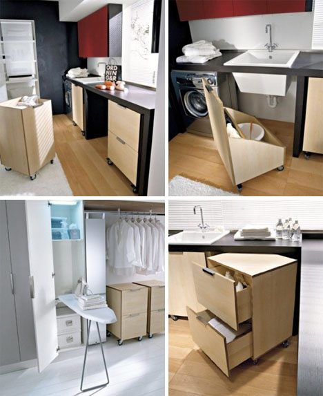 Modular Laundry Room Cabinets Storage Design Ideas
