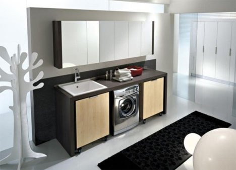 Modular Laundry Room Cabinets & Storage Design Ideas