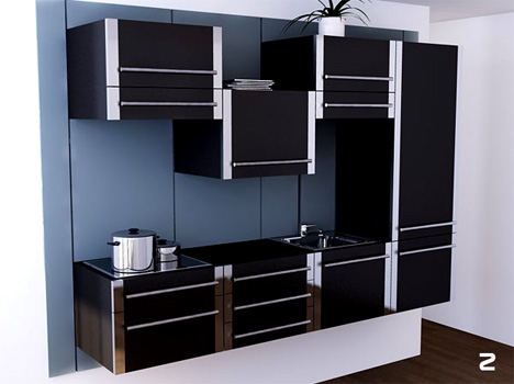 modular convertible kitchen idea