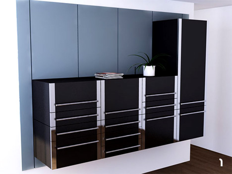 Modular Modernism SpaceSaving Kitchen Cabinet System - Kitchen cabinet space savers