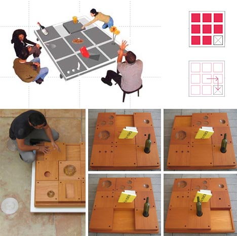 multifunctional moving table top