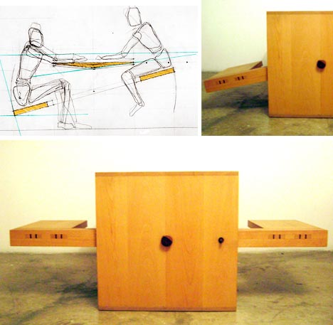 multifunctional seesaw table