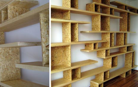 multifunctional stacked shelving