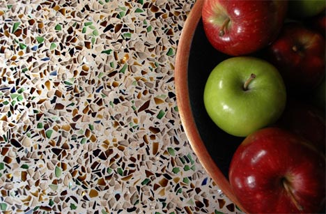 Recycled Color Glass Counters