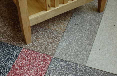 recycled glass ceramic flooring