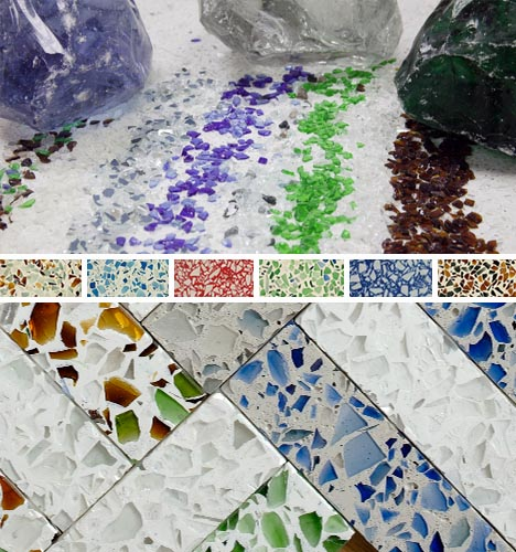 Recycled Gl Countertops Colorful