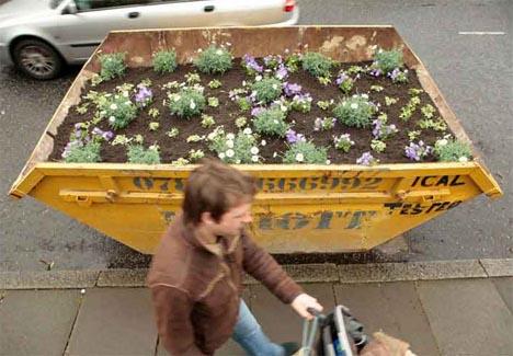 recycled urban guerrilla garden