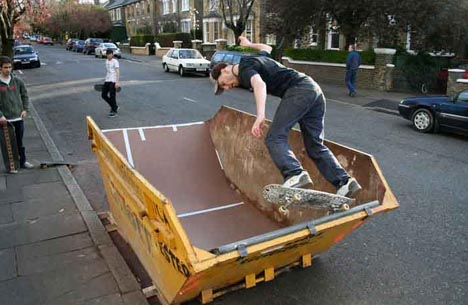 recycled urban skate park