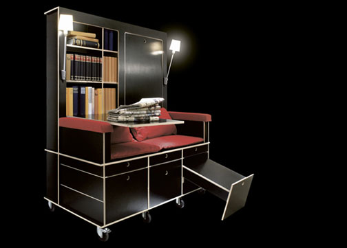 rolling bookcase sofa design
