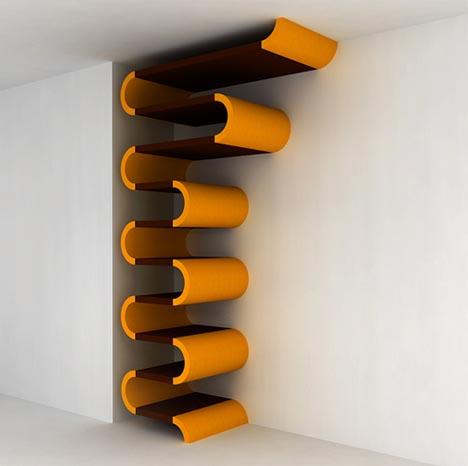shelving units functional sculpture