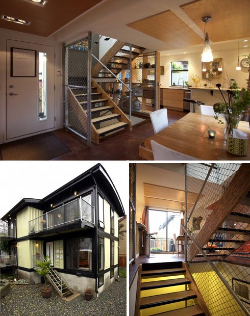 shipping container built house