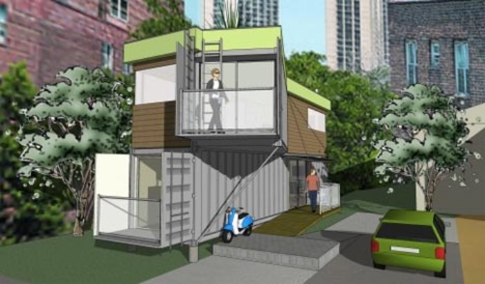 Diy shipping container house plans designs ideas on dornob - Shipping container homes designs ...