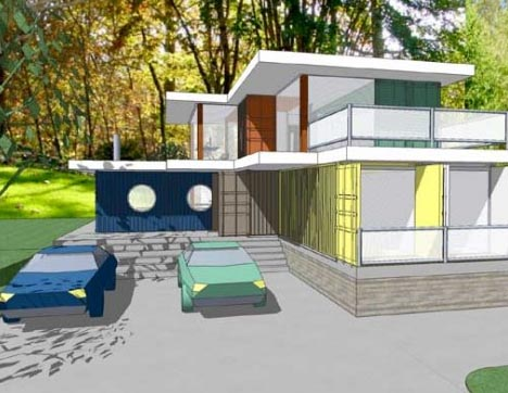 shipping container modern home