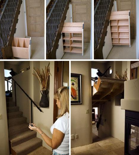 staircase hidden passage storage