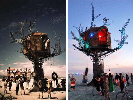 steampunk desert treehouse design