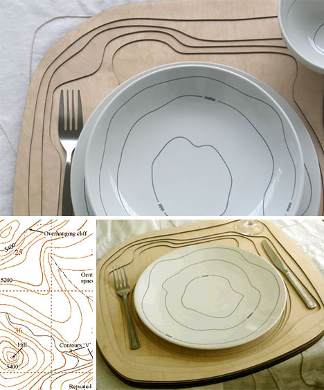 topo creative plate set & Topoware: Geography-Inspired Designer Dinnerware Set