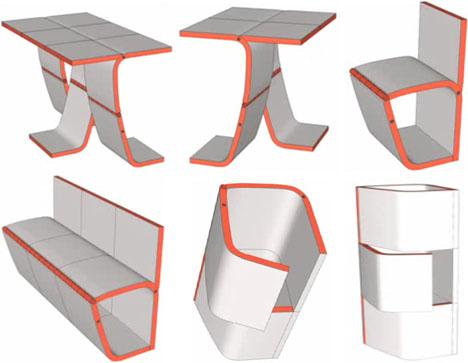 Modular Convertible Chairs Table amp Storage Furniture Set