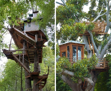 Custom tree house plans diy ideas building designs for Modern tree house designs
