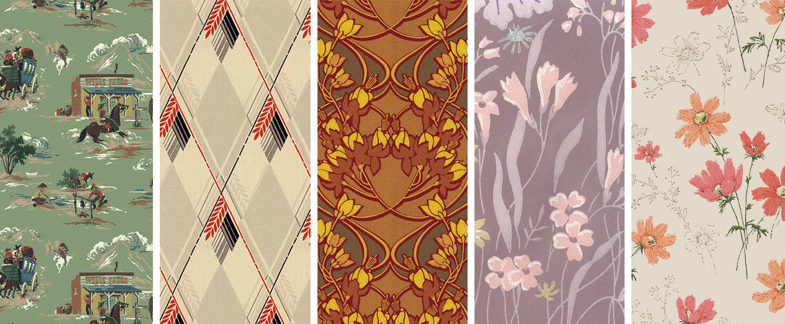 Fun Vintage Wallpaper Designs