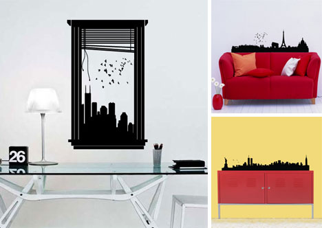 wall stickers city skylines