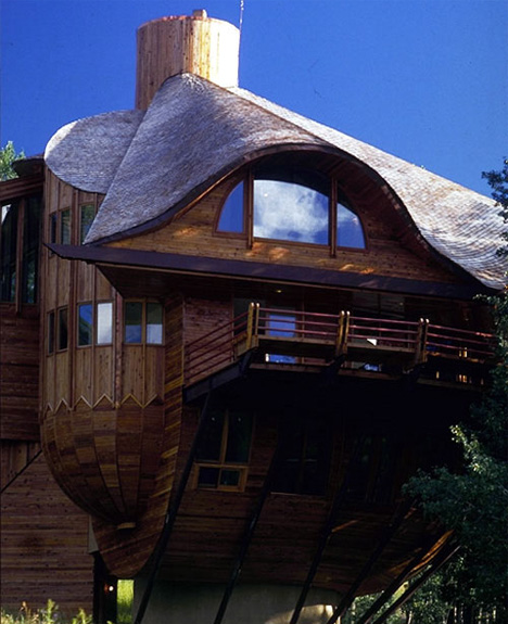 Robert Harvey Oshatz snow clam house in mt crested butte colorado 3