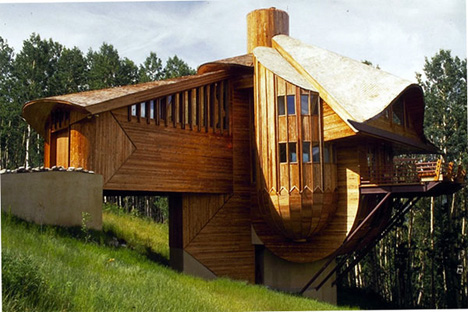 Robert Harvey Oshatz snow clam house in mt crested butte colorado