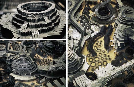 art mini city science fiction