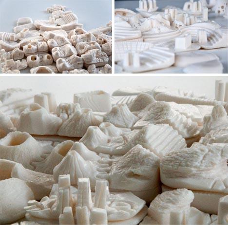 artistic mini city sculpture