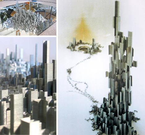 artistic staple skyscraper art
