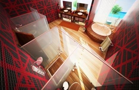 bathroom artistic interior design