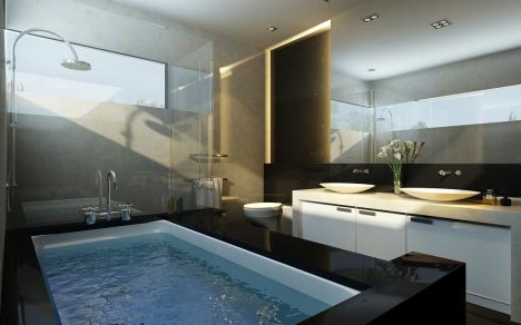 bathroom interio light design