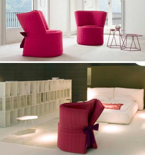 chair transforming bed design