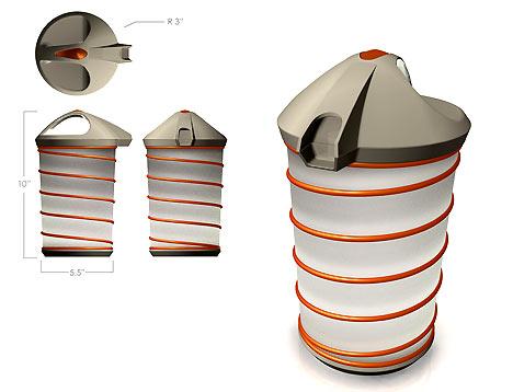 clever refillable milk jug design