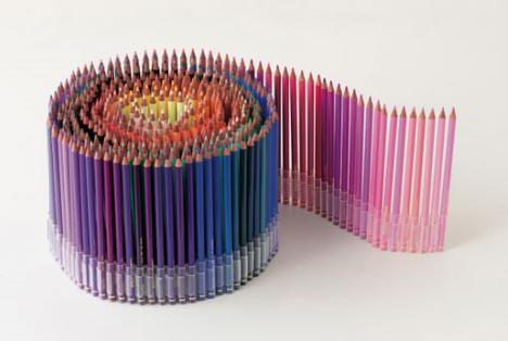 color pencil round roll
