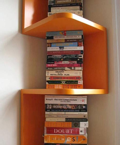 corner wood wall shelf
