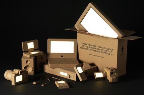 custom cardboard cut out gadgets