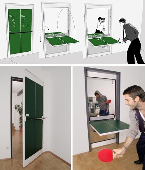 door dual hinge table