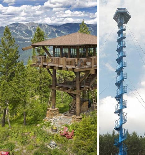 fire towers wood metal