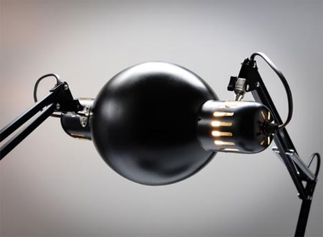 funky artistic black table lamp