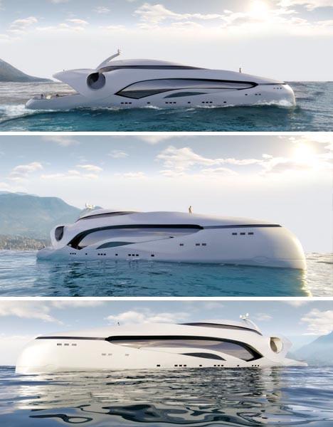 futuristic cool house boat