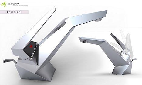 futuristic faucet head handle design