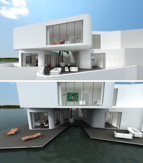 house boats futuristic floating