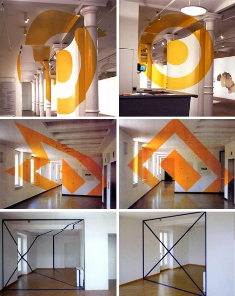Interior Design + Wall Art = Incredible Optical Illusions