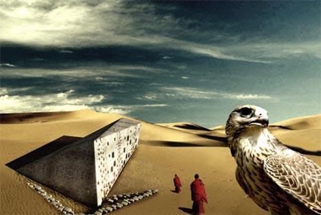 modular desert housing concept