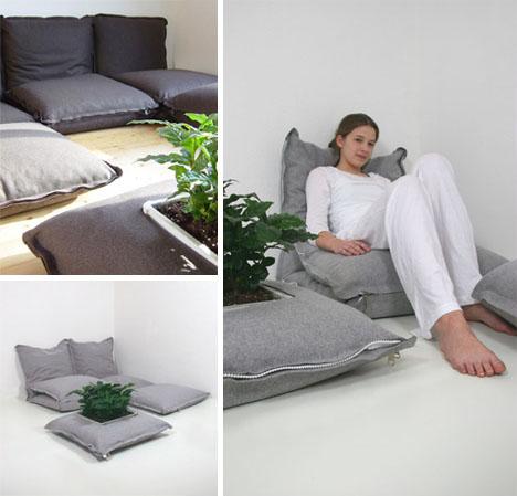 modular floor cushion pillow