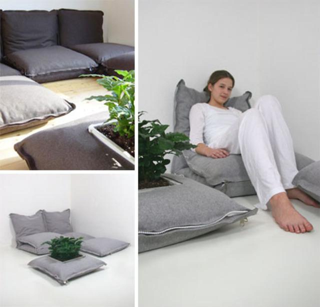 Zip Together Modular Floor Pillows