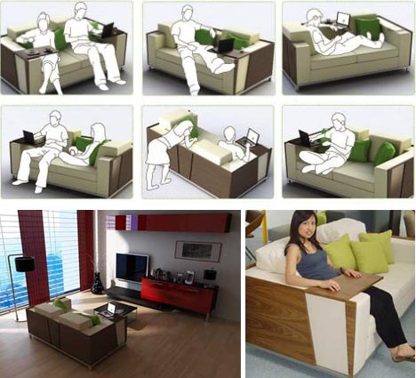 Genial Multifunctional Transforming Sofa