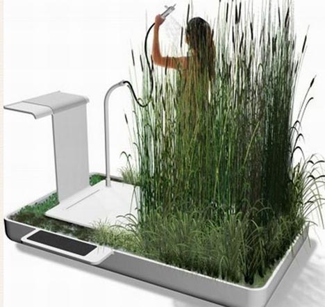 Super Natural Green Shower Amp Graywater Reuse System
