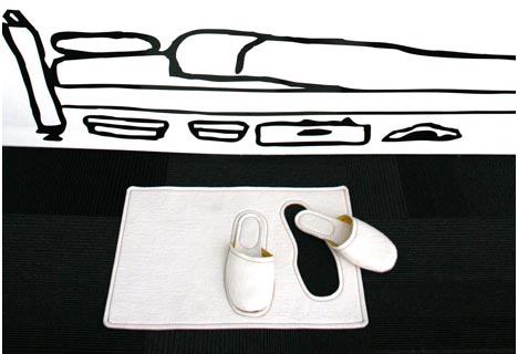 novelty bedroom slippers rug
